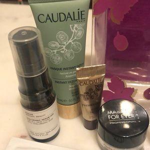 Makeup - 17 Sample Set + Caudalie Pouch